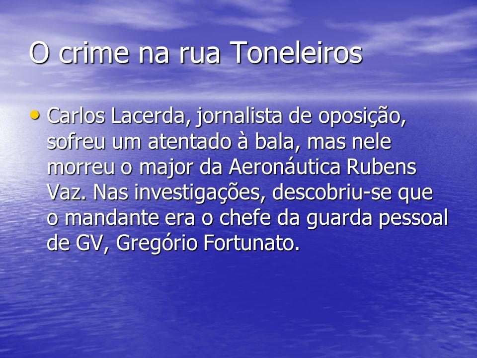 O crime na rua Toneleiros