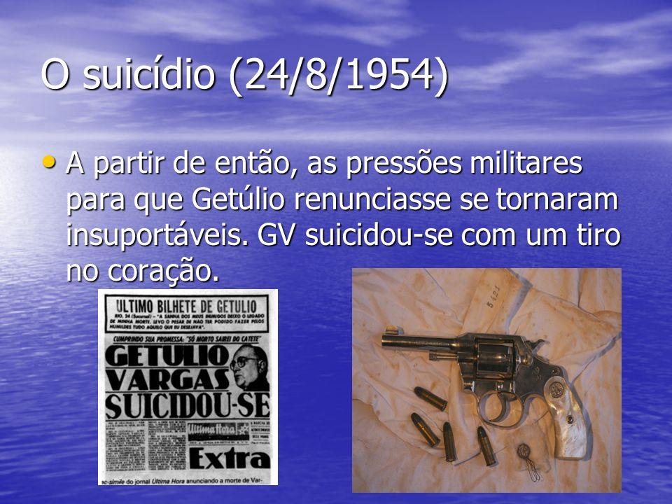 O suicídio (24/8/1954)