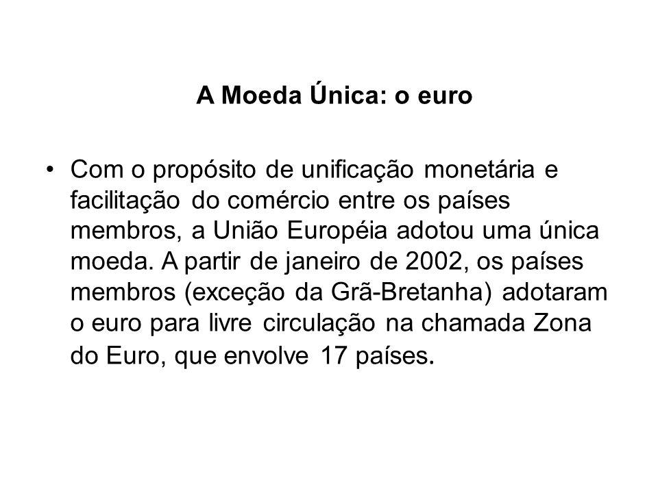 A Moeda Única: o euro