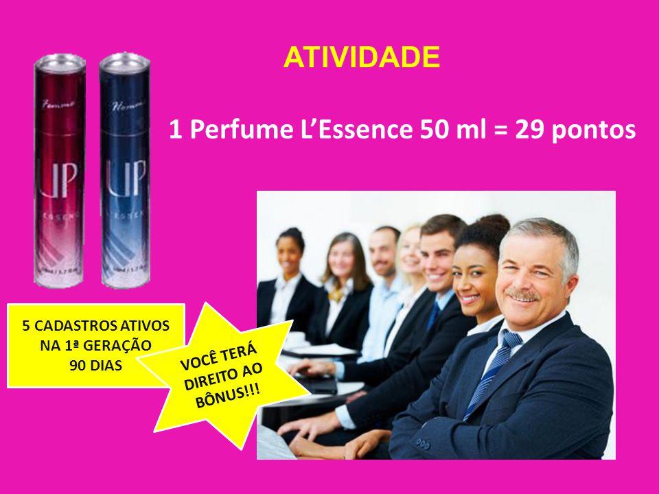 1 Perfume L'Essence 50 ml = 29 pontos