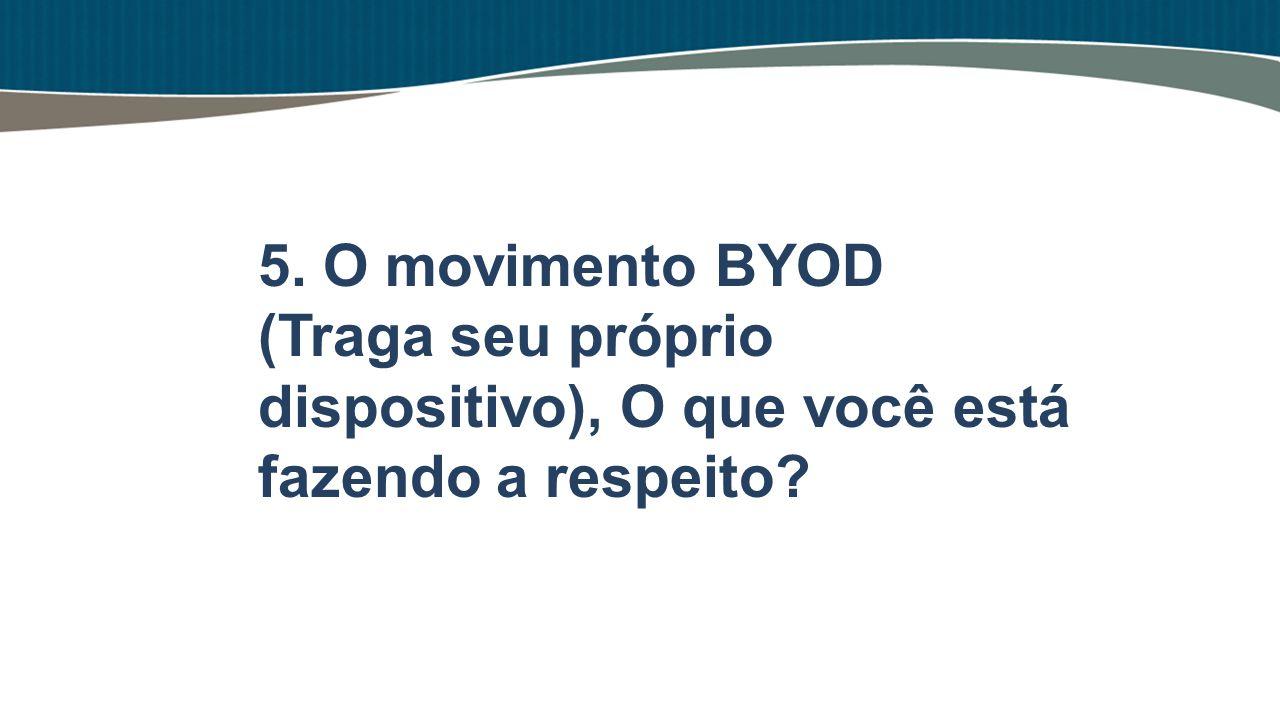 5. O movimento BYOD (Traga seu próprio dispositivo), O que você está fazendo a respeito