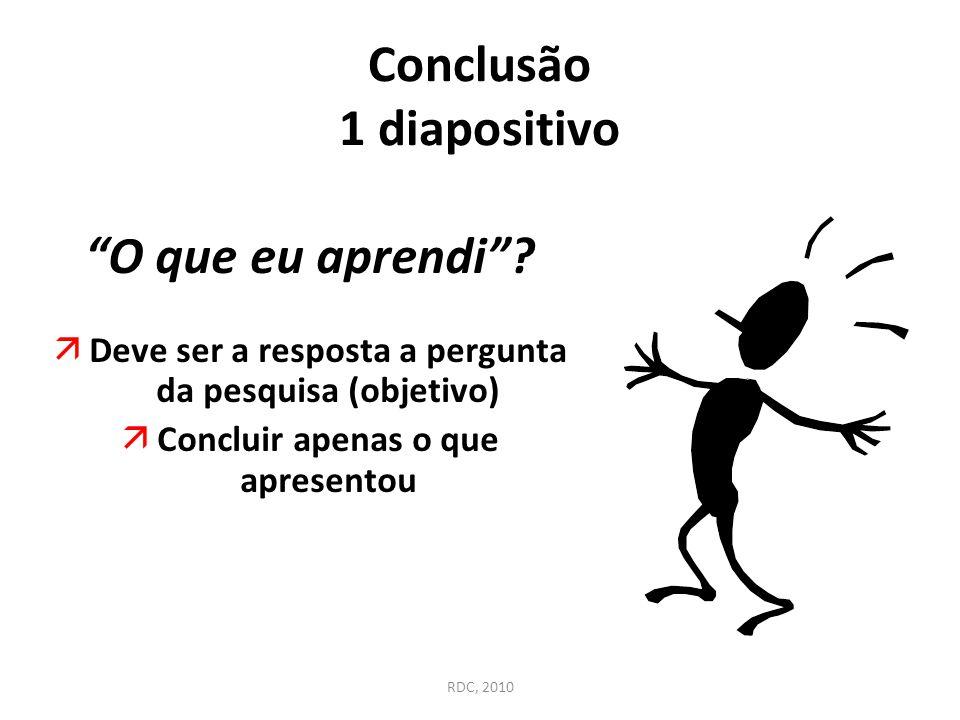 Conclusão 1 diapositivo