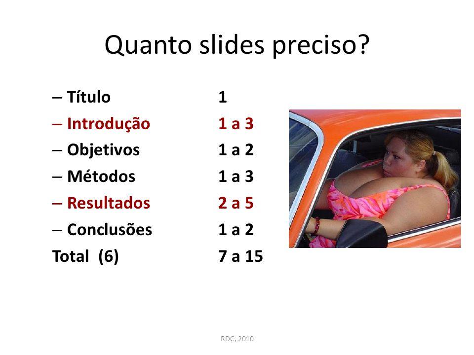 Quanto slides preciso Título 1 Introdução 1 a 3 Objetivos 1 a 2
