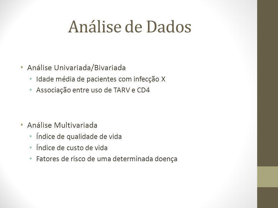 Análise de Dados Análise Univariada/Bivariada Análise Multivariada