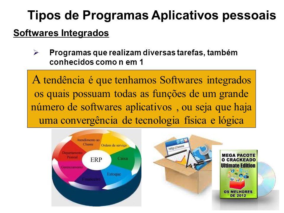 Tipos de Programas Aplicativos pessoais