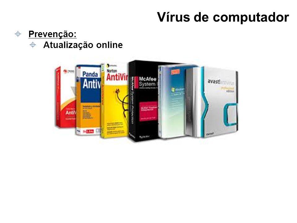 Vírus de computador Prevenção: Atualização online