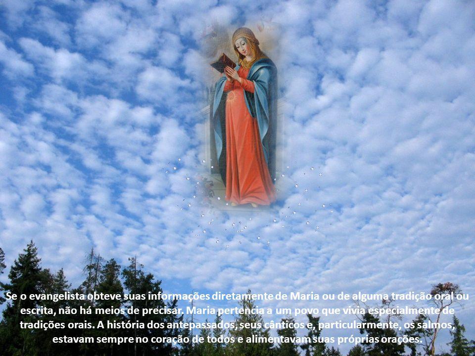 Se o evangelista obteve suas informações diretamente de Maria ou de alguma tradição oral ou escrita, não há meios de precisar.