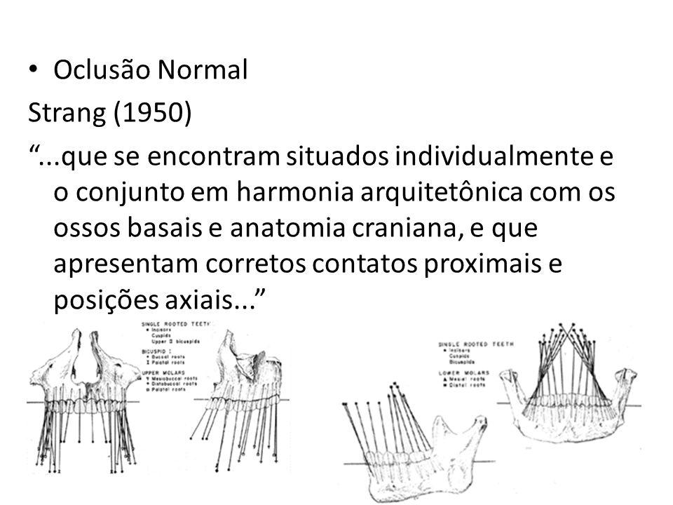 Oclusão Normal Strang (1950)