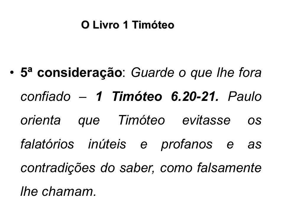 O Livro 1 Timóteo