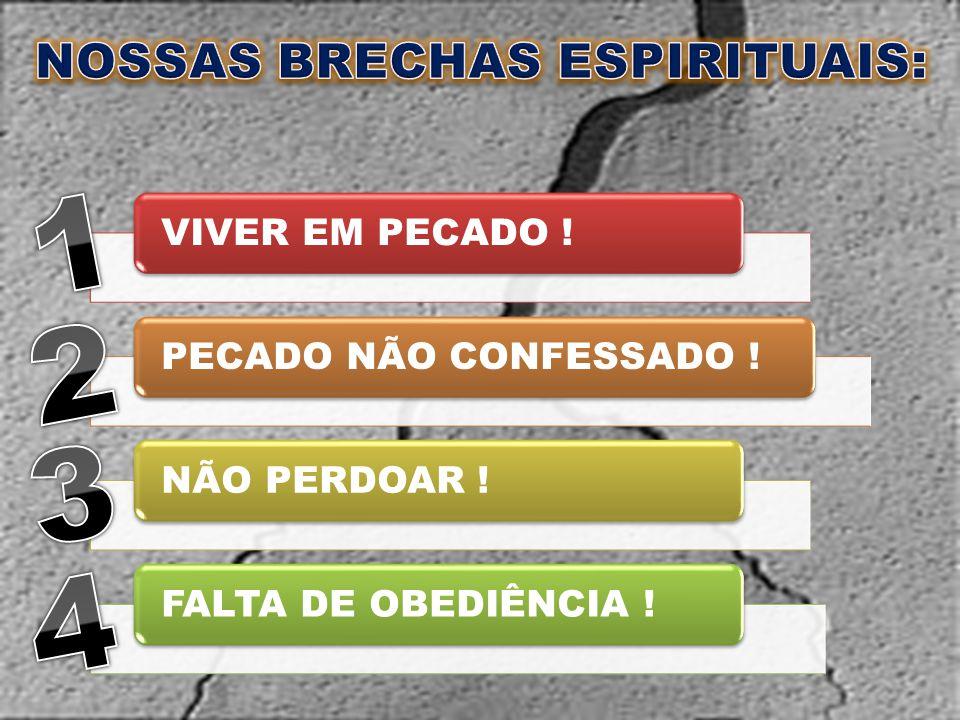 NOSSAS BRECHAS ESPIRITUAIS: