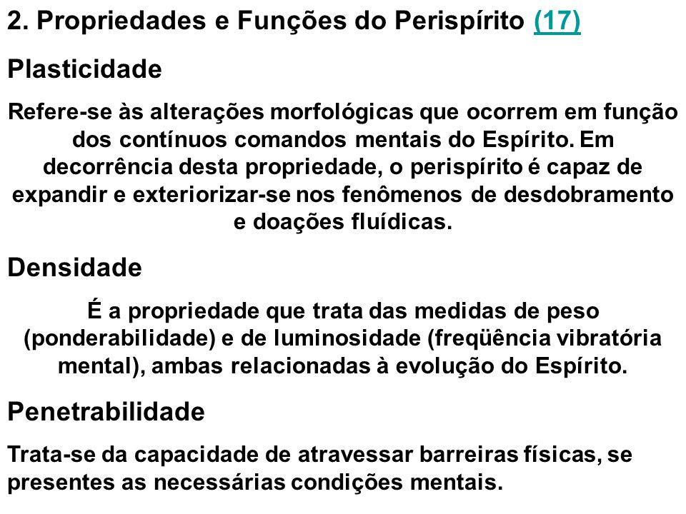 2. Propriedades e Funções do Perispírito (17) Plasticidade