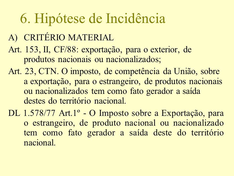 6. Hipótese de Incidência