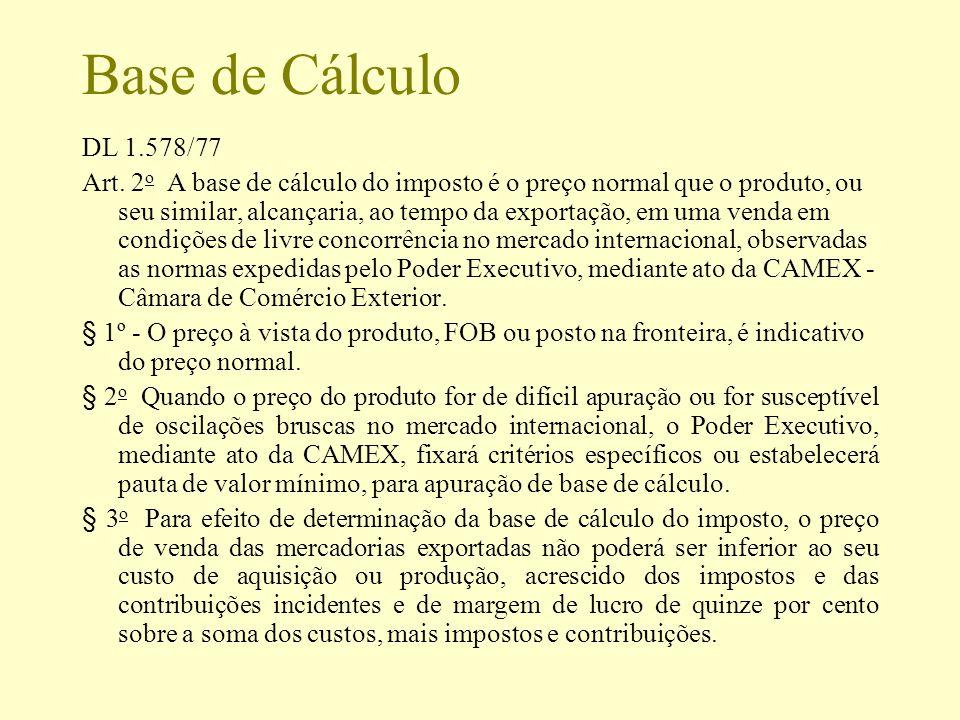 Base de Cálculo DL 1.578/77.