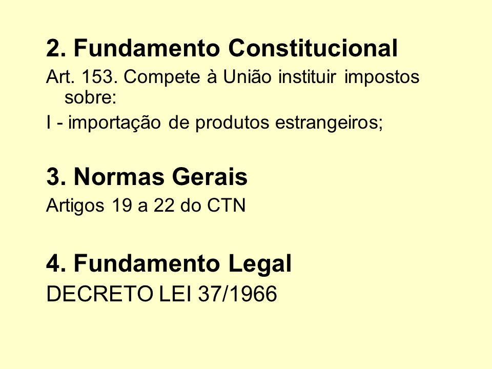 2. Fundamento Constitucional