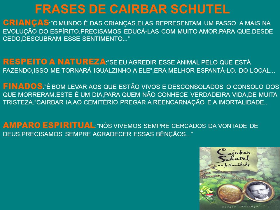 FRASES DE CAIRBAR SCHUTEL