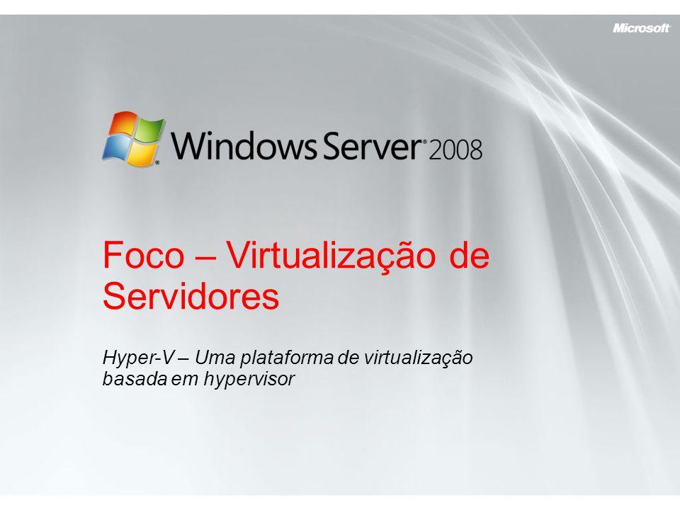 Foco – Virtualização de Servidores
