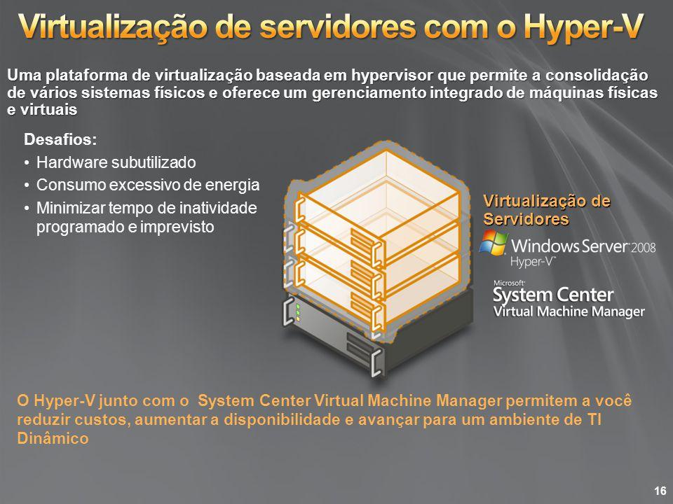 Virtualização de servidores com o Hyper-V