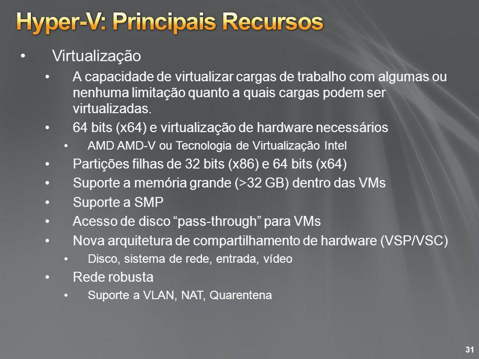Hyper-V: Principais Recursos