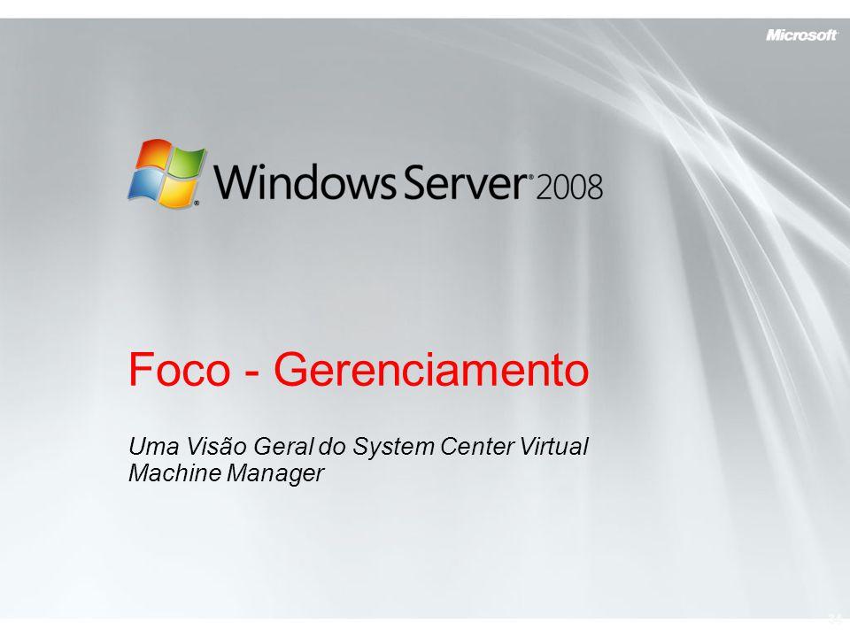 Uma Visão Geral do System Center Virtual Machine Manager