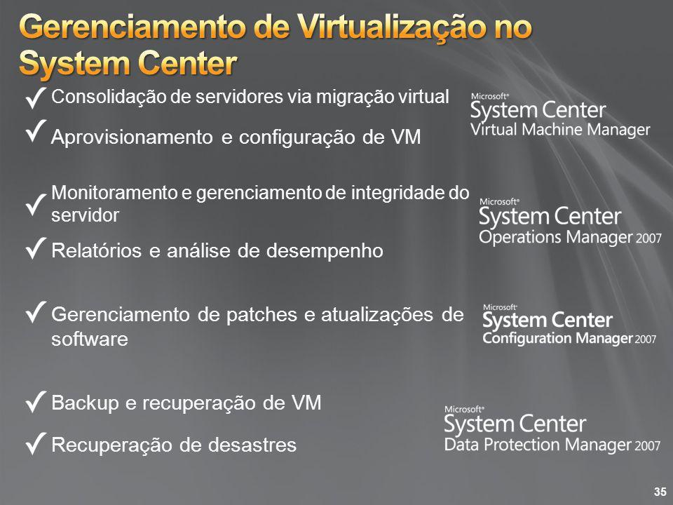 Gerenciamento de Virtualização no System Center