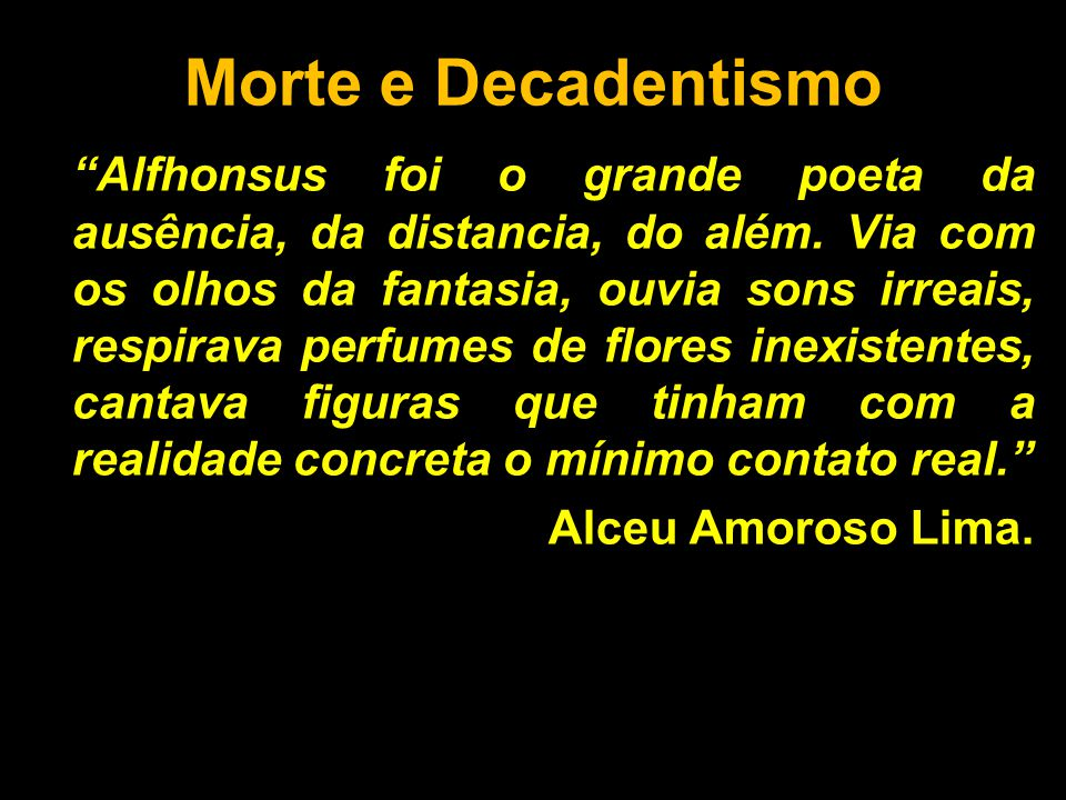 Morte e Decadentismo