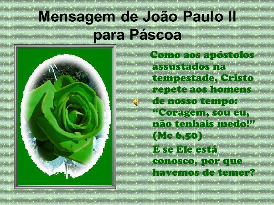 Mensagem de João Paulo II para Páscoa