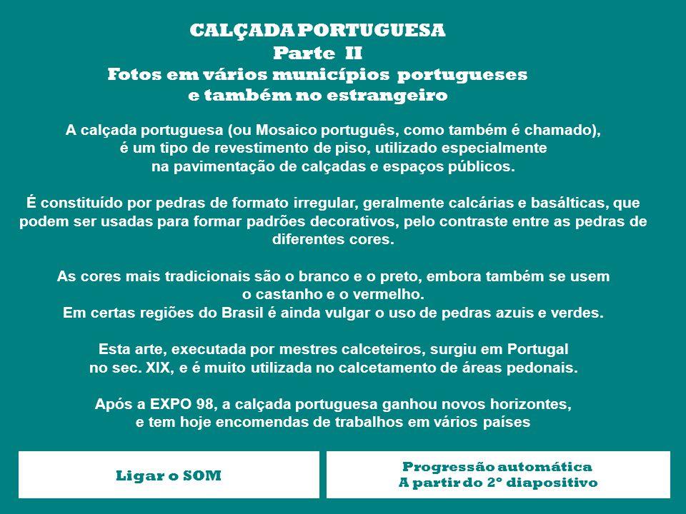 CALÇADA PORTUGUESA Parte II Fotos em vários municípios portugueses
