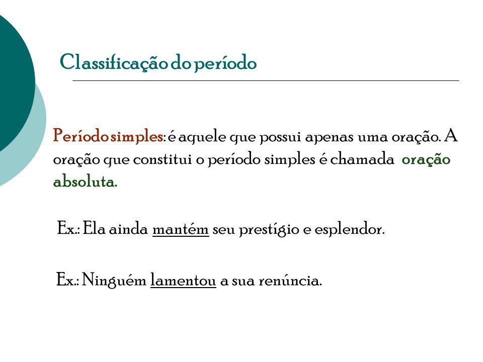Classificação do período