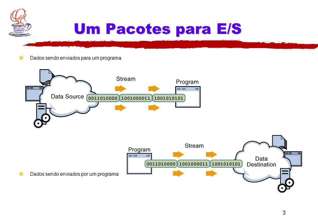 Um Pacotes para E/S Dados sendo enviados para um programa