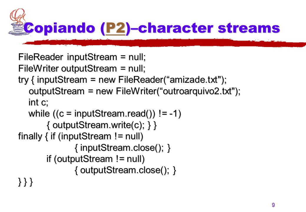 Copiando (P2)–character streams