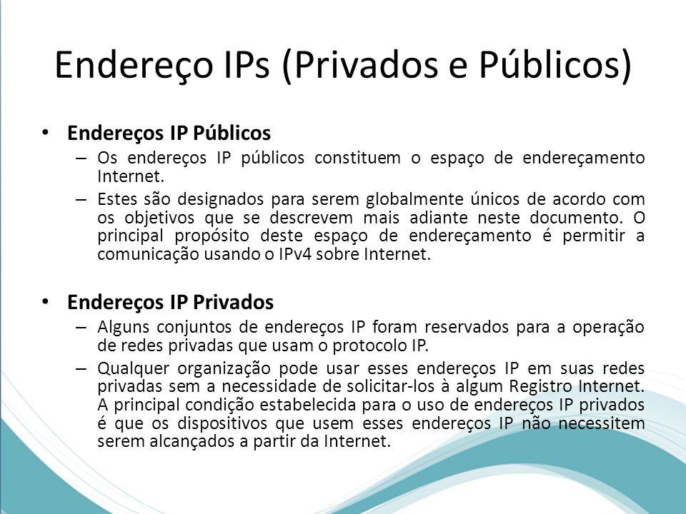 Endereço IPs (Privados e Públicos)
