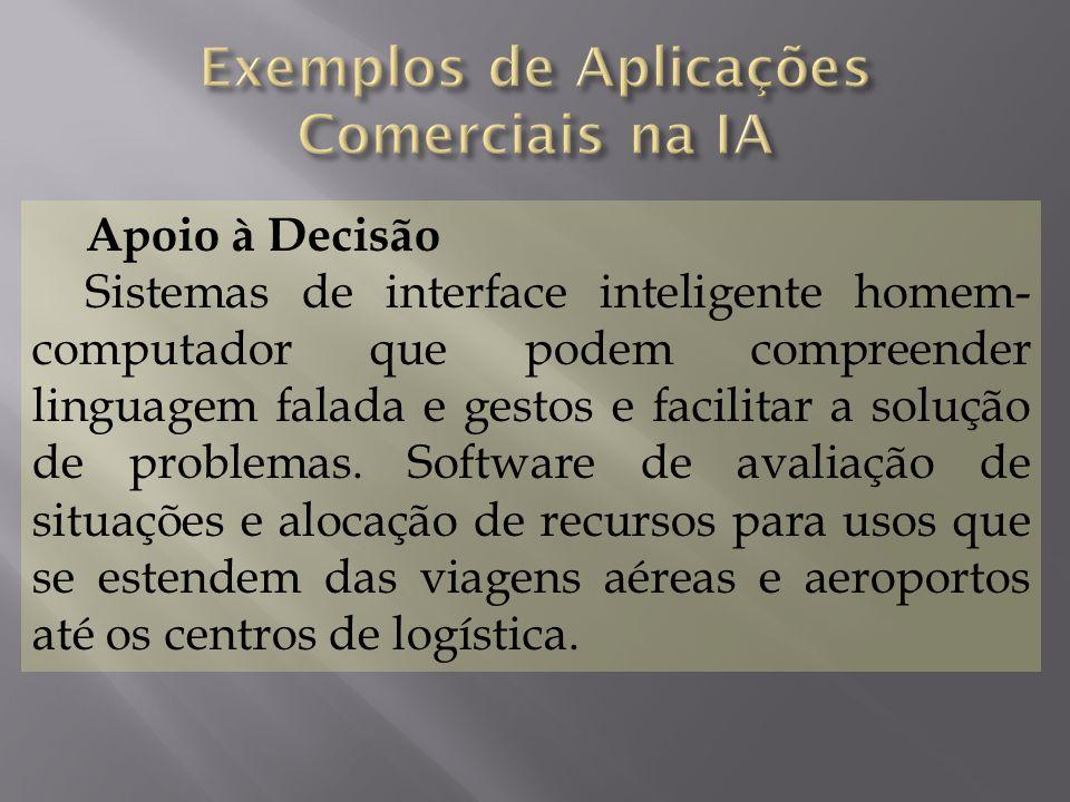 Exemplos de Aplicações Comerciais na IA