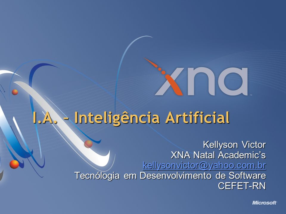 I.A. – Inteligência Artificial
