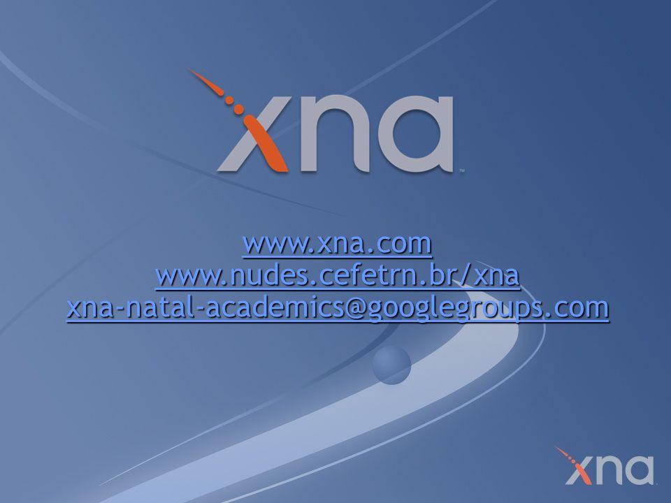 www.nudes.cefetrn.br/xna xna-natal-academics@googlegroups.com