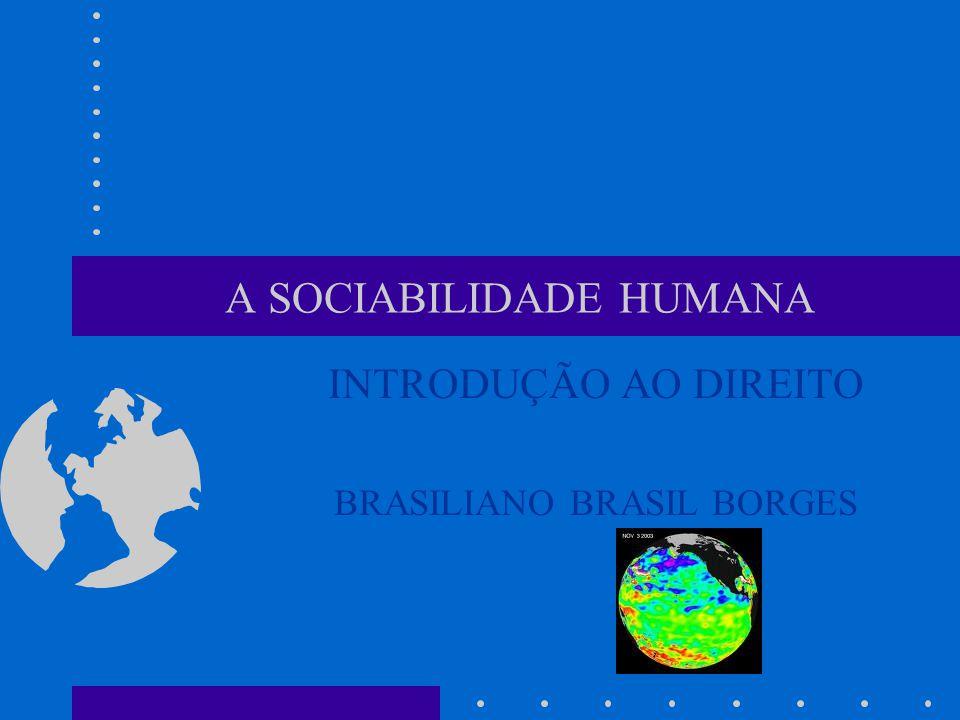 A SOCIABILIDADE HUMANA