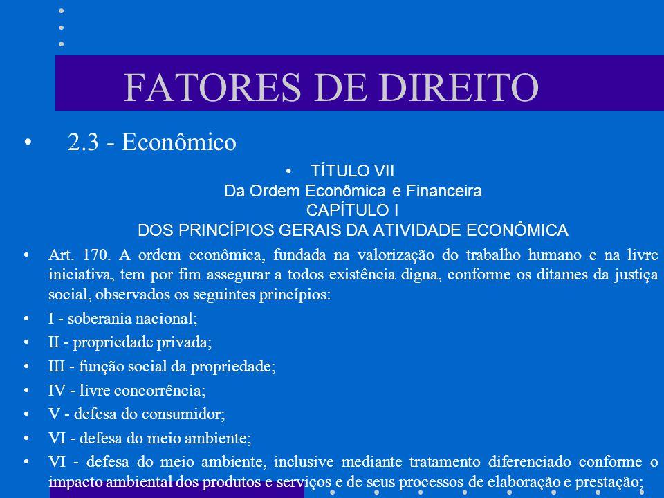 FATORES DE DIREITO 2.3 - Econômico
