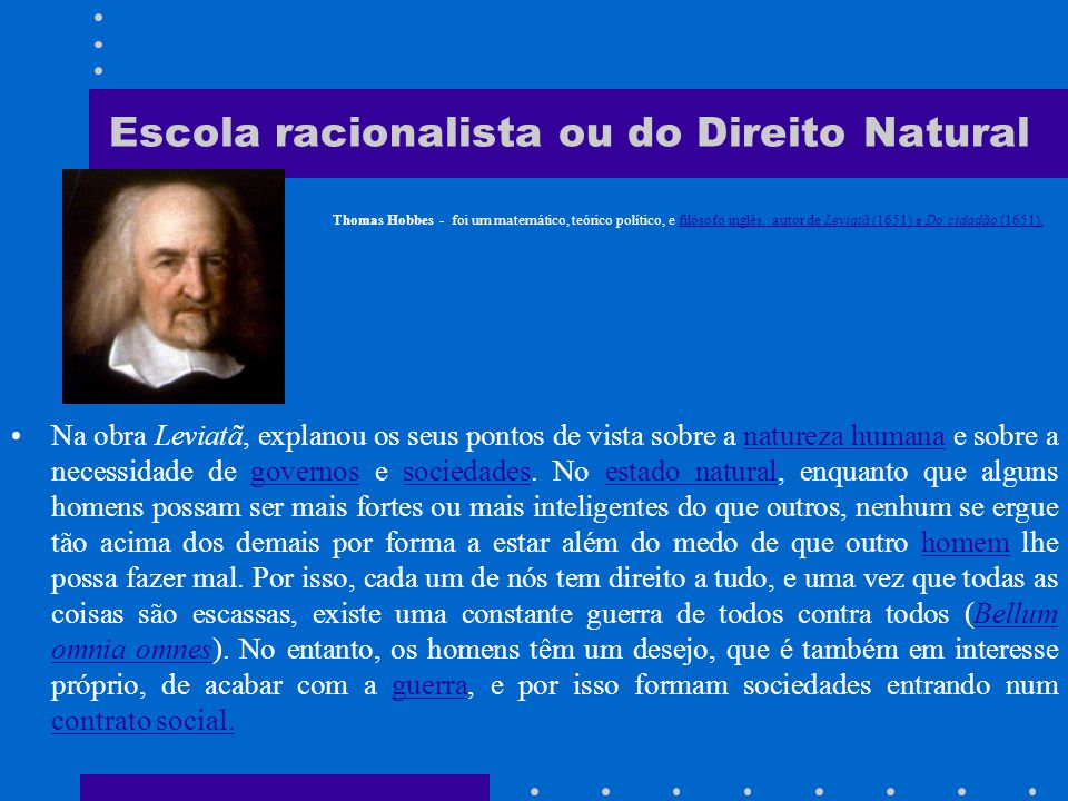 Escola racionalista ou do Direito Natural