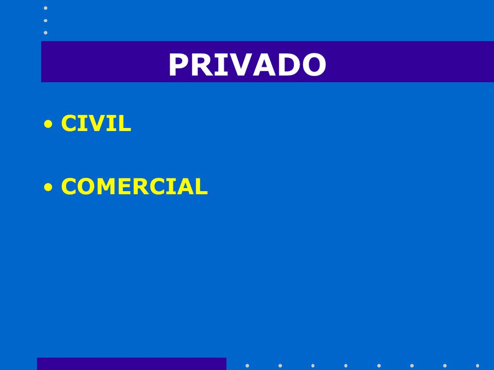 PRIVADO CIVIL COMERCIAL