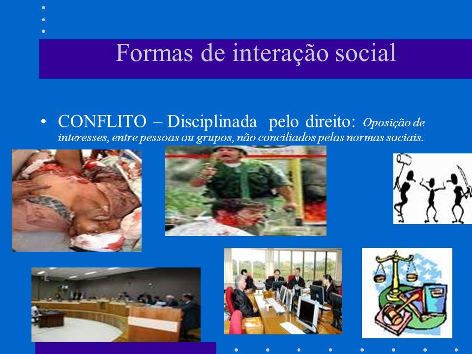 Formas de interação social