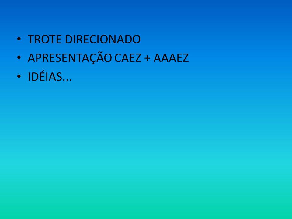 TROTE DIRECIONADO APRESENTAÇÃO CAEZ + AAAEZ IDÉIAS...
