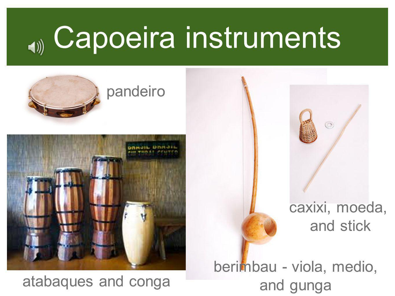 berimbau - viola, medio, and gunga