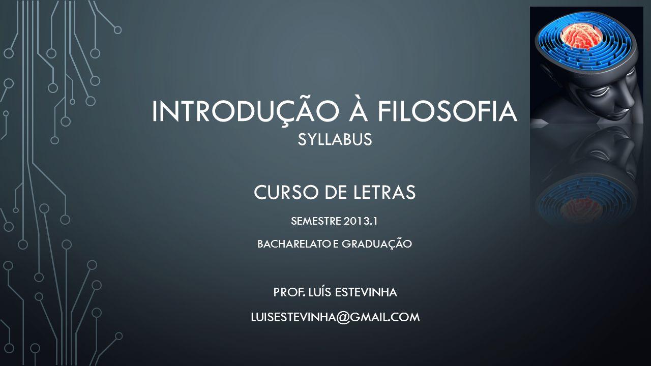 Introdução à Filosofia SYLLABUS