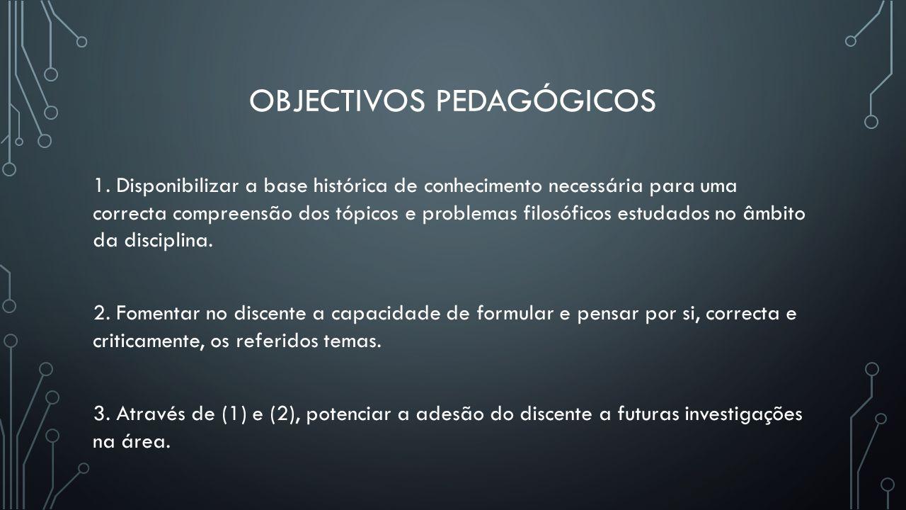 Objectivos pedagógicos
