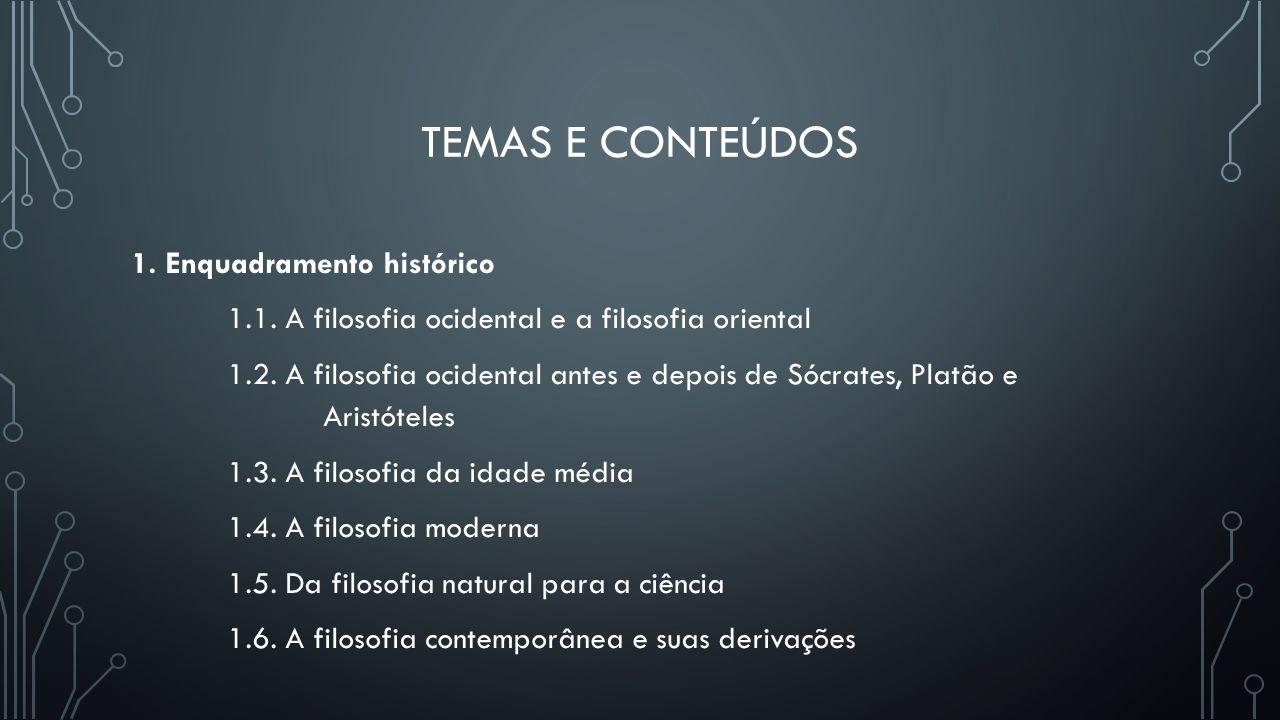 Temas e conteúdos 1. Enquadramento histórico