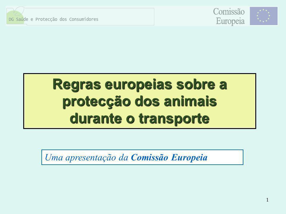 Regras europeias sobre a protecção dos animais durante o transporte