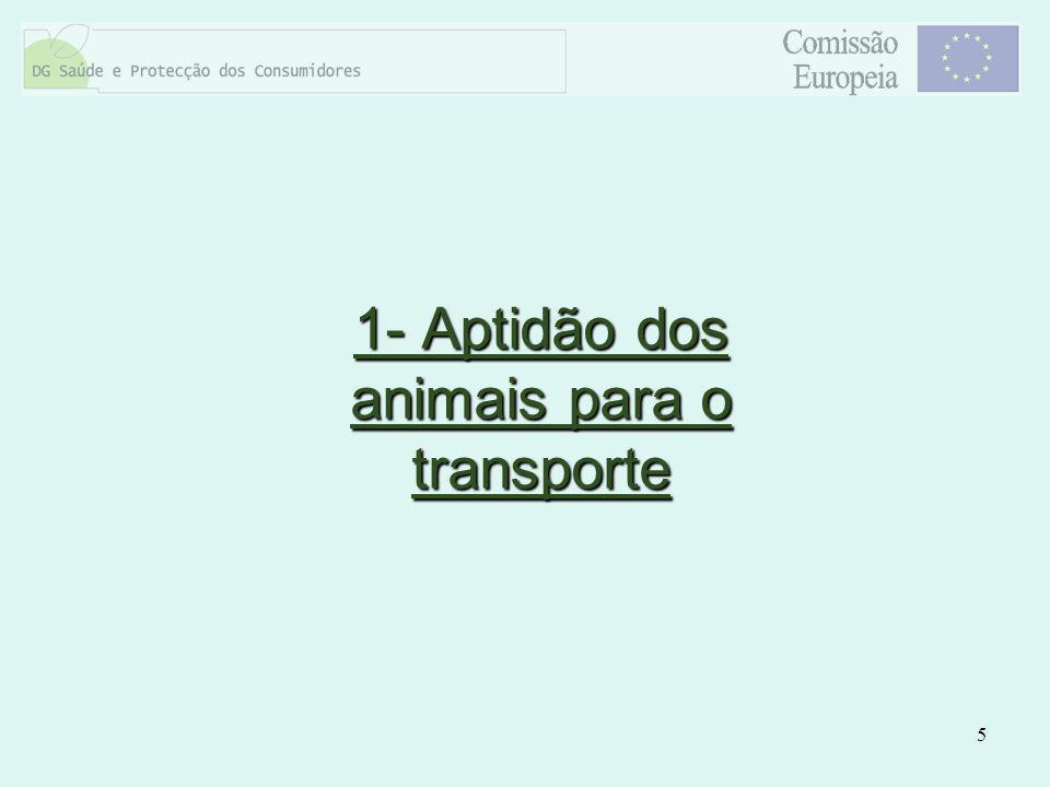 1- Aptidão dos animais para o transporte