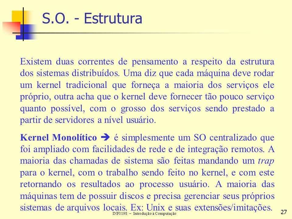 S.O. - Estrutura