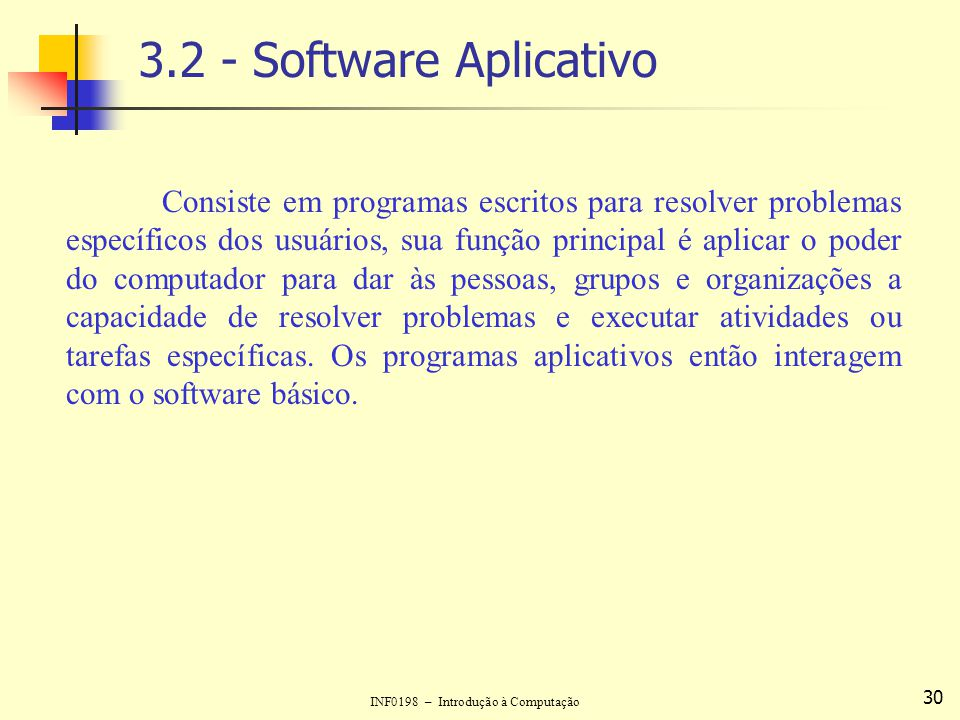 3.2 - Software Aplicativo