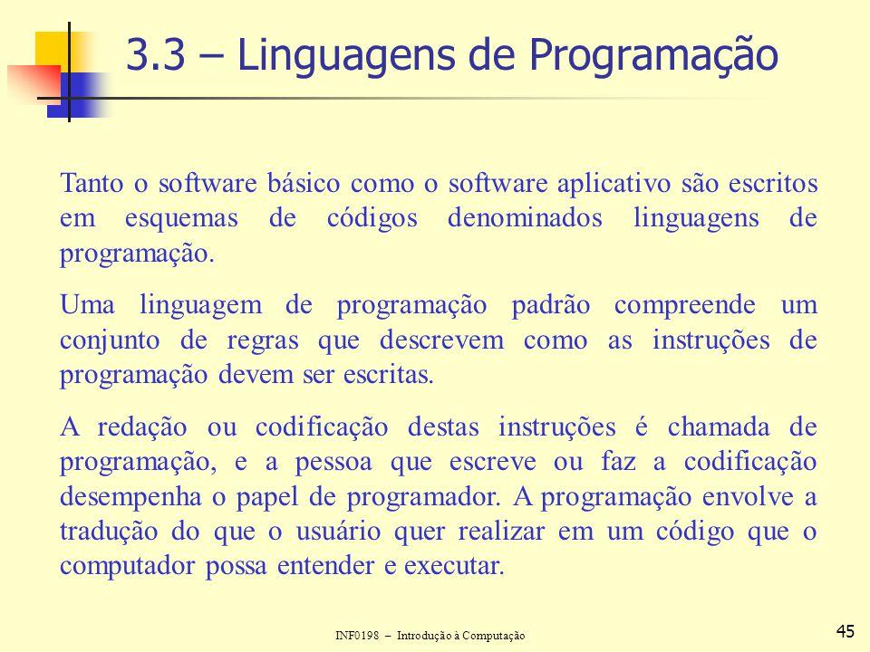 3.3 – Linguagens de Programação