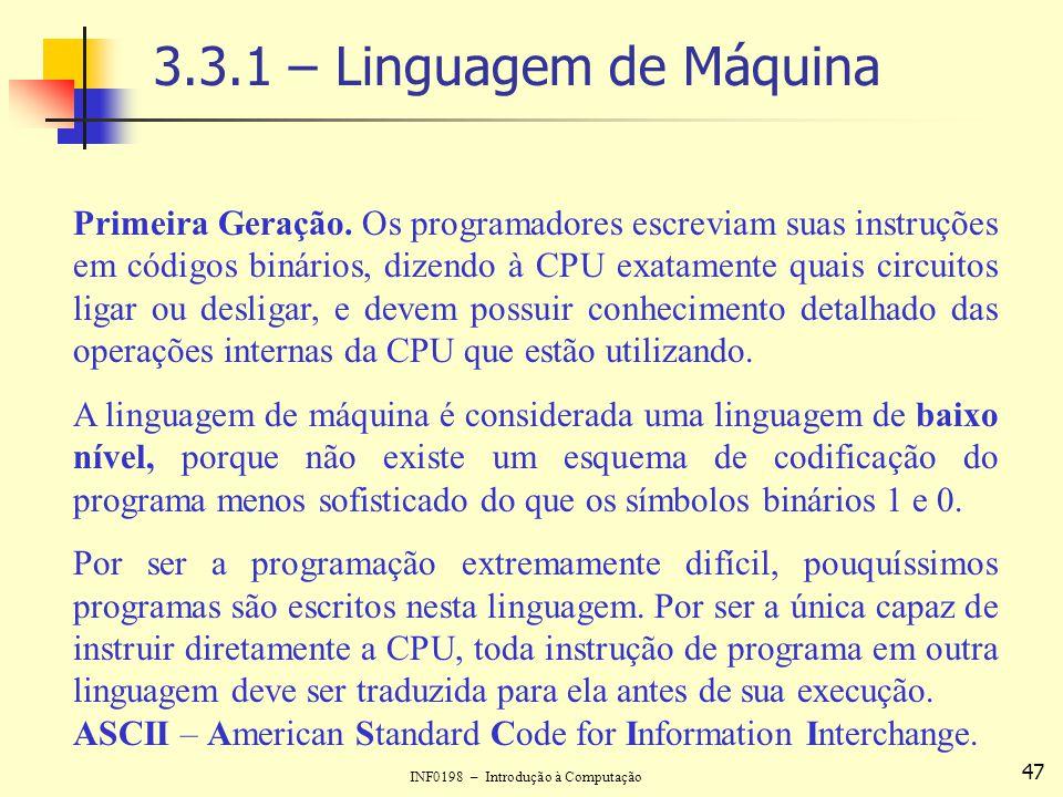 3.3.1 – Linguagem de Máquina